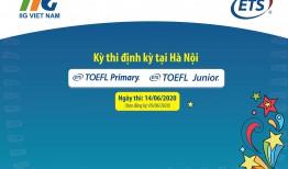 Hà Nội: Thông báo kết quả Vòng Chung kết Quốc gia (Vòng 3) cuộc thi TOEFL Challenge và Kỳ thi định kỳ/bổ sung bài thi TOEFL Primary & TOEFL Junior Quốc tế năm học 2019 – 2020
