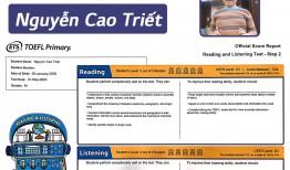 💪 IIG ACADEMY CÙNG NGUYỄN CAO TRIẾT CHINH PHỤC ĐIỂM TOP 229/230 #TOEFL_PRIMARY